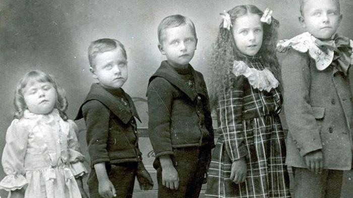 Детские фотографии XIX веке.
