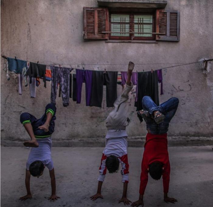 Дети в лагере для беженцев. 1 декабря 2015 г. Фото: Emad Samir Nassar.