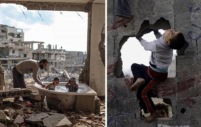 Снимки из сектора Газа.