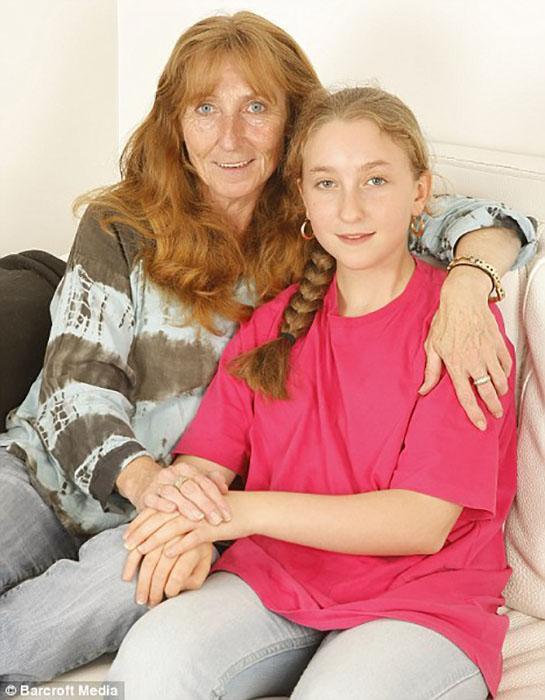 Ким Нобл со своей дочерью Эйми.