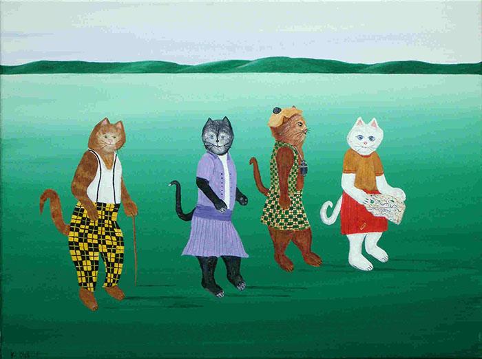 *Кошачья прогулка*. Автор: Ким/не установлено.