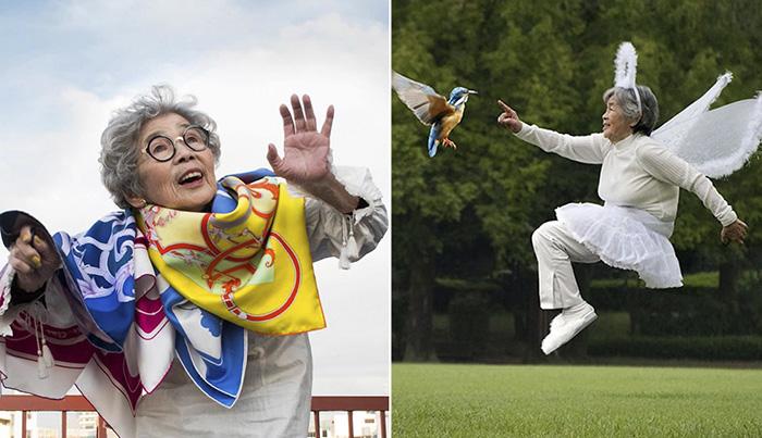Фотографии 90-летней японской бабушки.