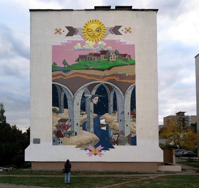 Мурал в Минске. Автор: Kislow.