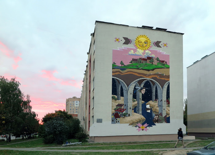 Мурал в столице Беларуси.