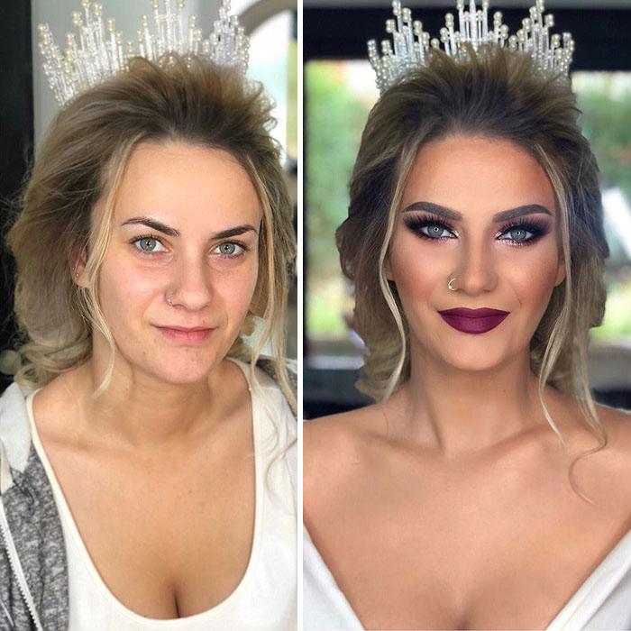 Трансформации невест иногда просто поразительные.