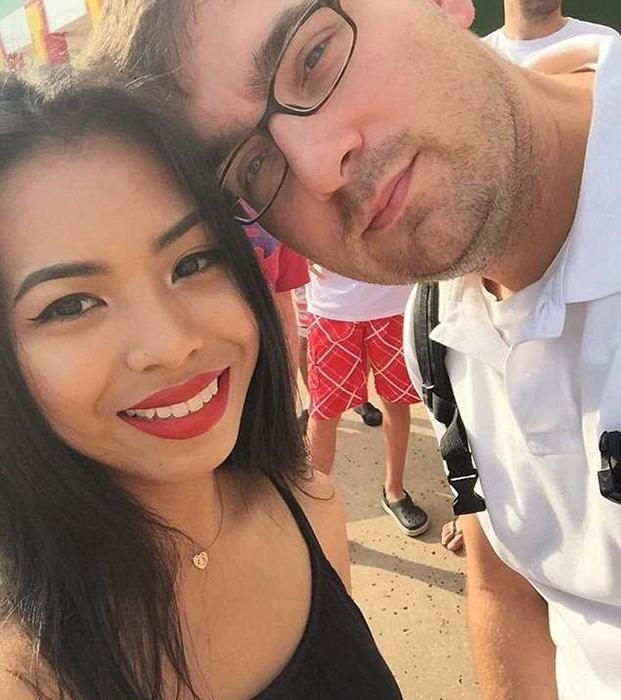 Ли Эн со своим мужем Давидом.