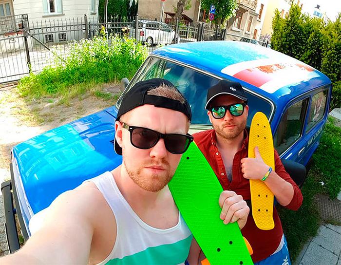 Друзья приехали из Исландии на российской машине.