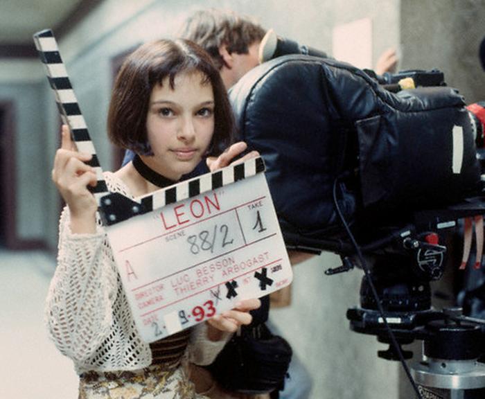 Натали Портман во время съемок в своем первом фильме.