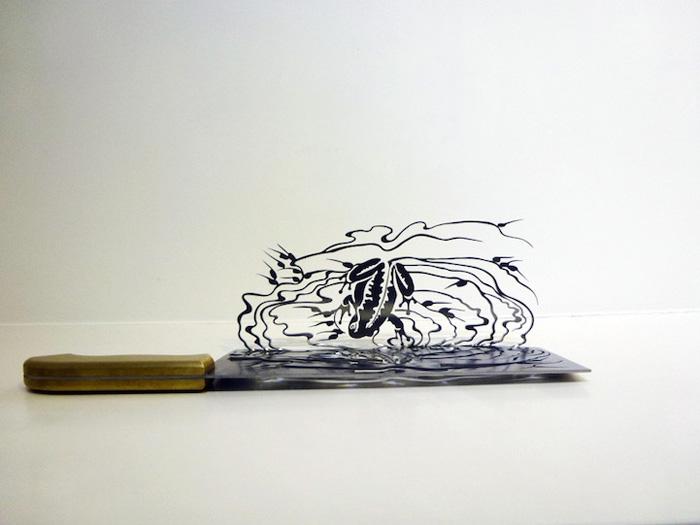 Тень ножей - персональная выставки Ли Хонгбо.