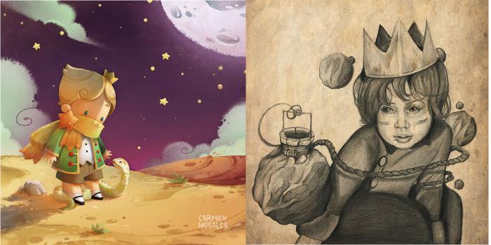 Иллюстрации к книге *Маленький Принц*.