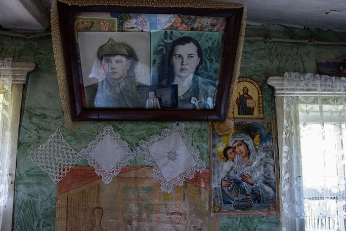 Портреты родителей Люськи.