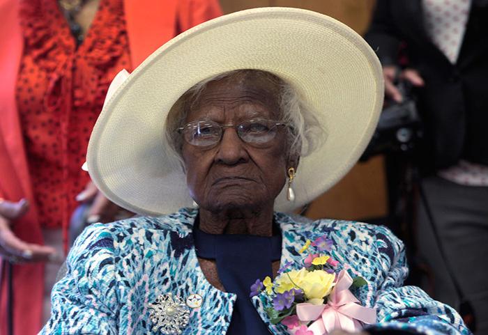 Джералин Талли, 115 лет.