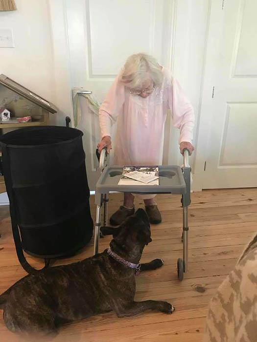 Конфетка и бабушка.