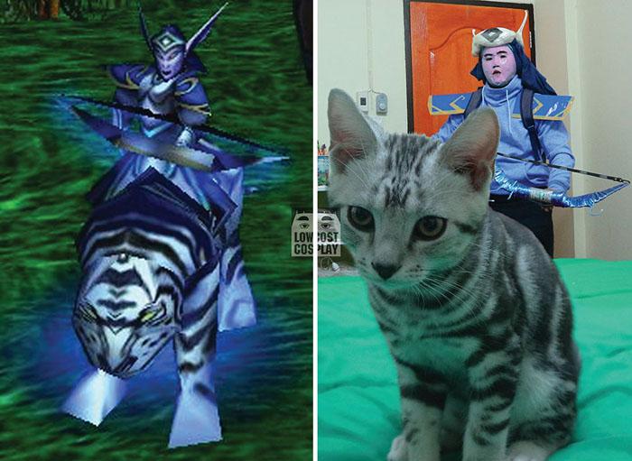 Mirana из компьютерный игры Warcraft.  Автор: Lowcost Cosplay.