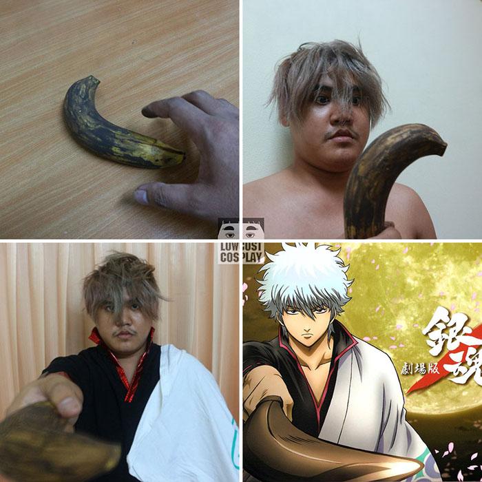 Gintoki Sakata и банан.  Автор: Lowcost Cosplay.