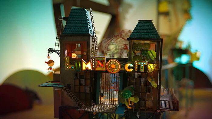 Волшебный город в игре Lumino City.