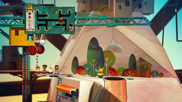 Бумажные декорации, созданные командой из шести человек.