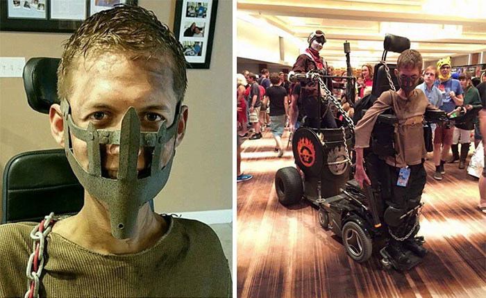 Бен Карпентер, студент-инвалид в образе Безумного Макса.