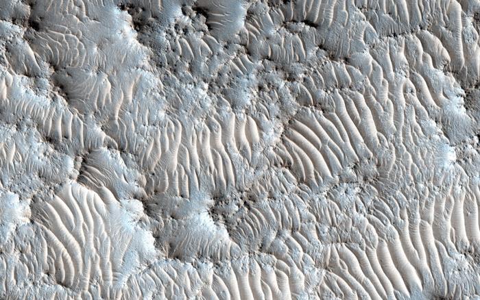 Предполагаемое место приземление миссии на Марс 2020 - кратер Эзеро. Раньше это было дном озера.