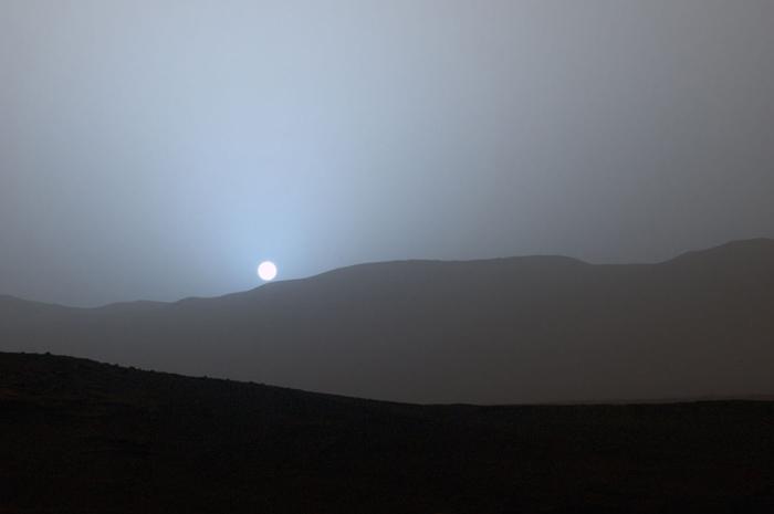 Вид на Солнце с поверхности Марса. 15 апреля 2015г.
