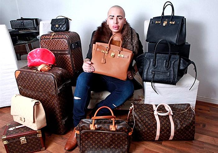 Джордан и люксовые сумочки. Instagram jordanjamesparke.