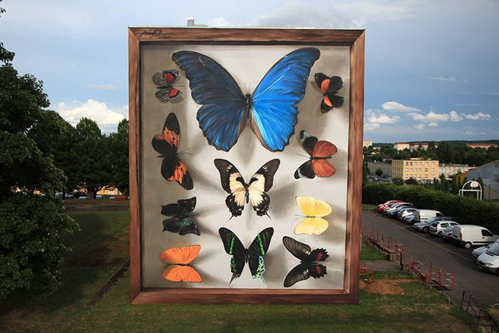 Окончание работы над муралом Yasuni's Imago во Франции. Июль 2017 год. Автор: Mantra.