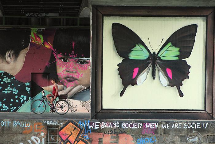 Бабочки стали отличительной чертой творчества художника Mantra. Автор: Mantra.