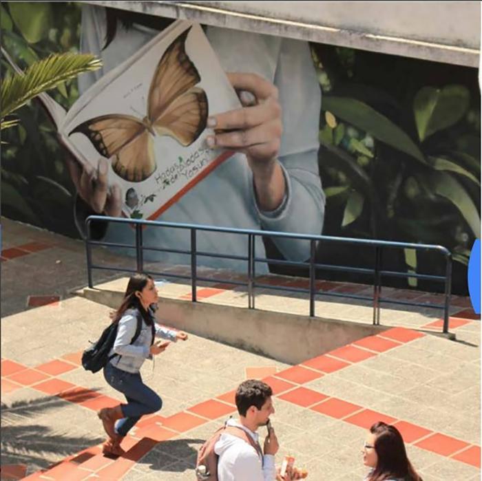 University PUCE. Мурал, созданный на территории университетского городка в Кито, Эквадор. Январь 2017 г. Автор: Mantra.