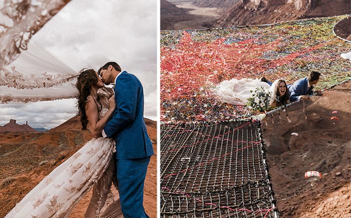 Свадьба над обрывом: Экстремальное представление, закончившееся happy end'ом