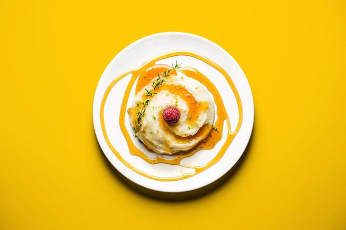 Картофельное пюре с карамелью. 5 из 10.