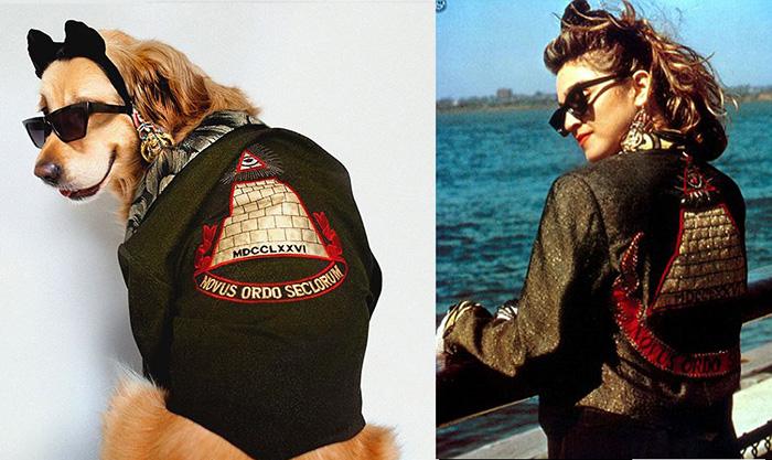 Макс в образе Мадонны из фильма «Отчаянно ищу Сьюзен».