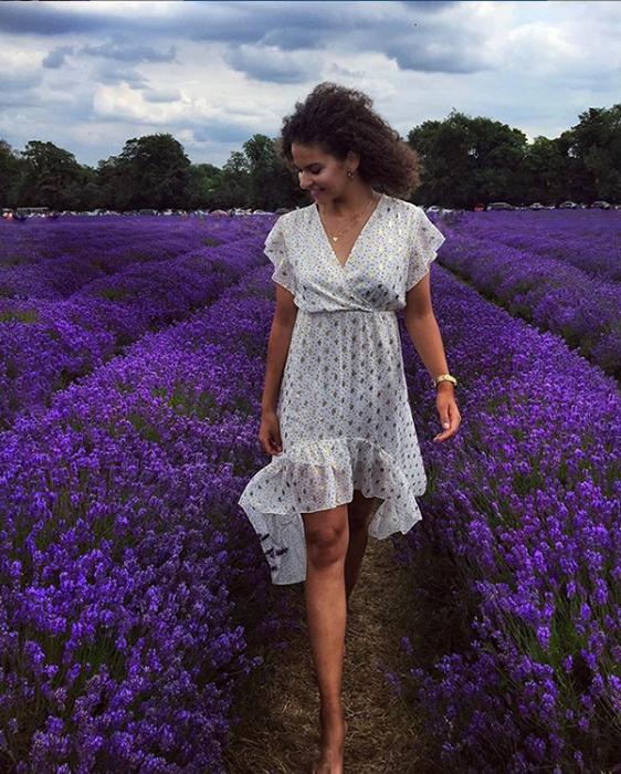 Лавандовые поля в Англии.