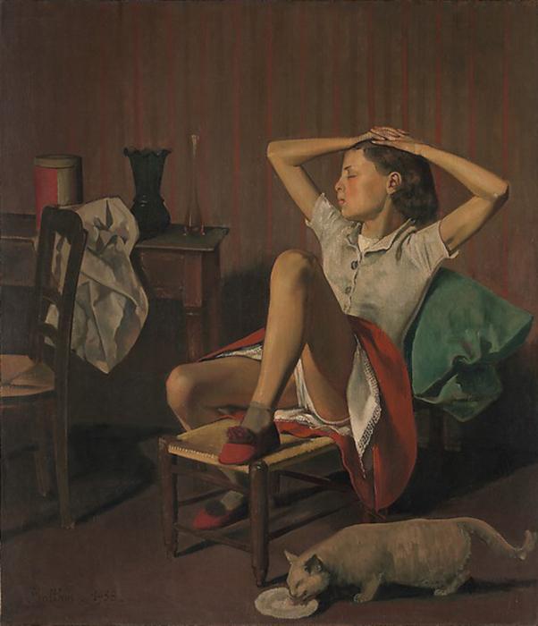 *Мечтающая Тереза* является самой известной работой французского художника Бальтюса.