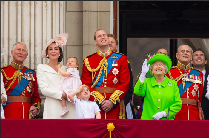 На дне рождении королевы.