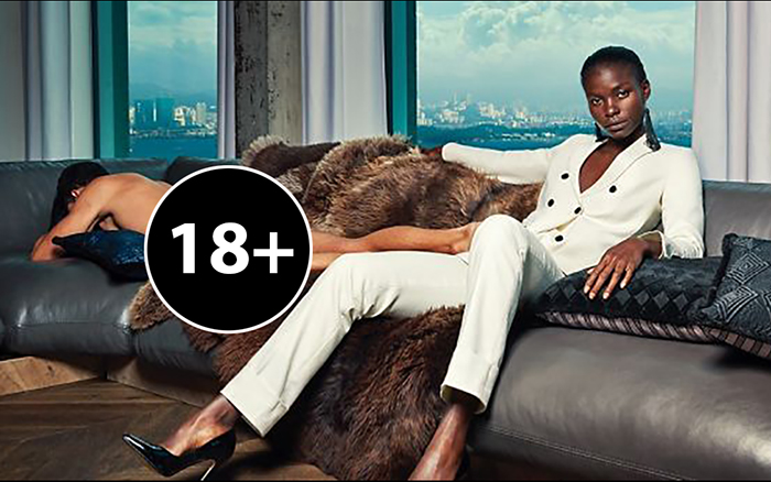 Рекламная кампания голландской фирмы по производству деловых костюмов для женщин.