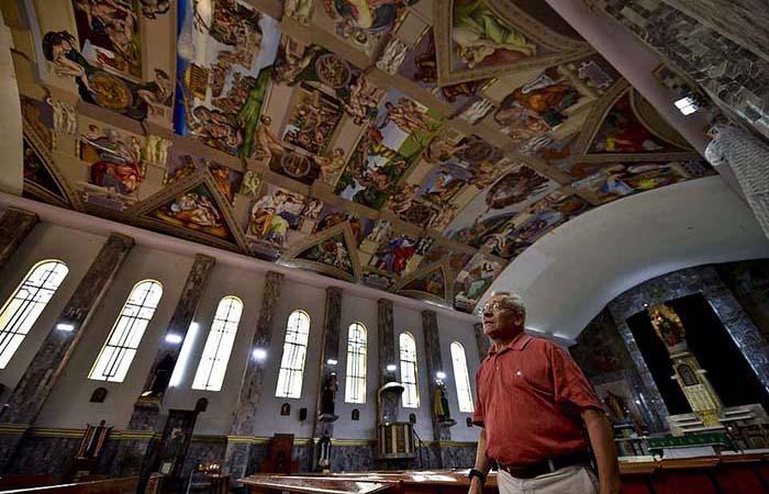 Копия фресок Микеланджело.
