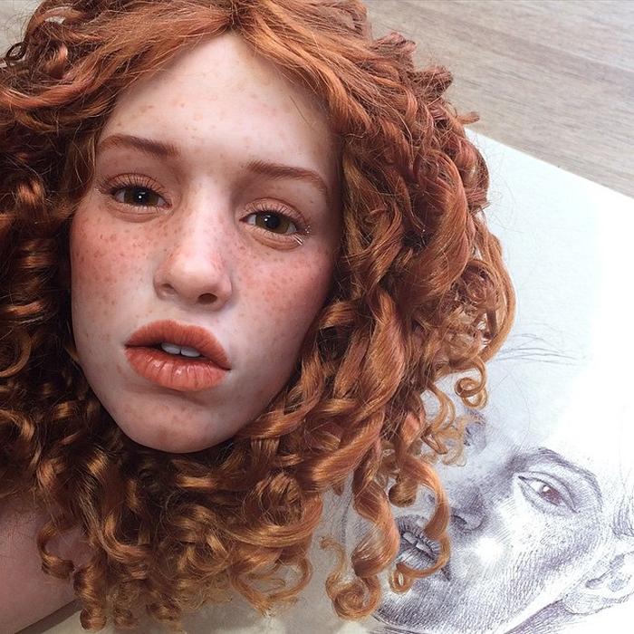 Лицо каждой куклы создано из полиуретана.