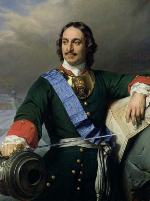 Пётр I. Поль Деларош, 1838.