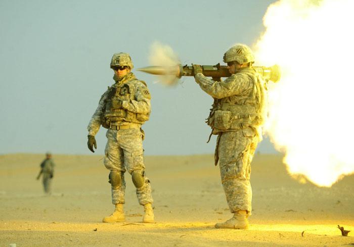 Оружие в действии.