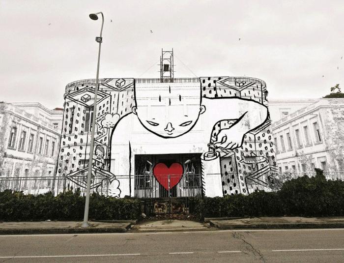 Граффити в Турине.