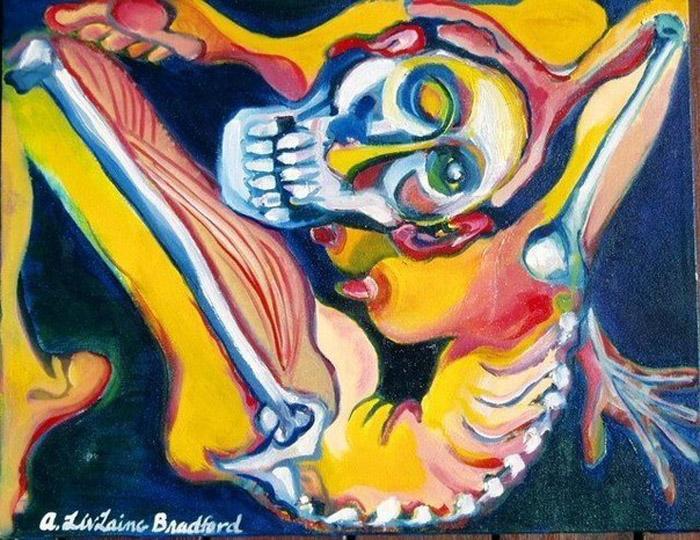 Акробат (The contortionist). Автор: A. LivLaing Bradford. Несмотря на довольно неудобную позу изображенной женщины, художник считает свою картину портретом.