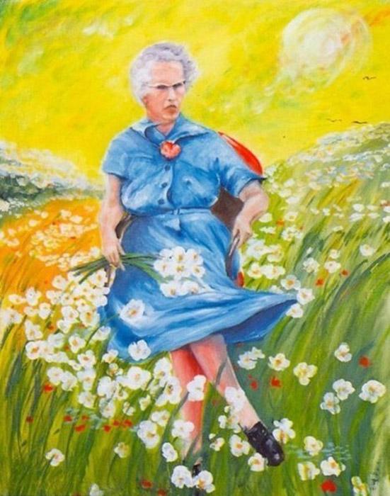 Люси в небесах с цветами (Lucy in the sky with flowers). Автор неизвестен. Эта картина, бесспорно, является звездой коллекции музея.