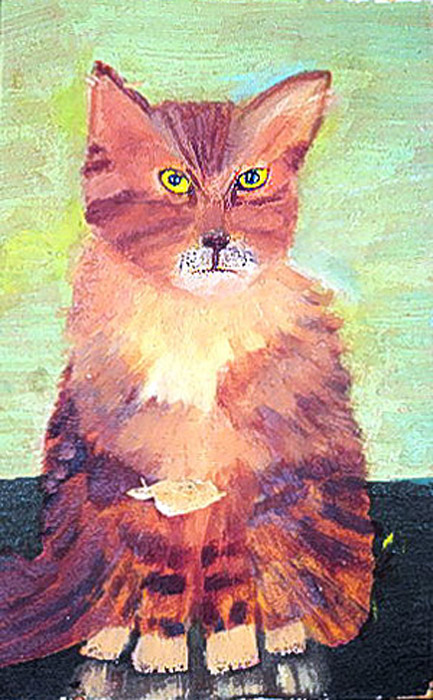 Котенок Питер (Peter the kitty). Автор: Mrs. Jackson.  Возможно, Питер голоден. Возможно, он просто всех нас ненавидит.