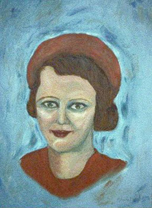 Эйлин (Eileen). Автор: R. Angelo Le. Украденный из музея портрет.