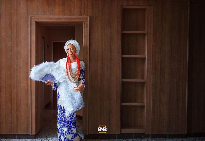 Пунми в день свадьбы. Instagram mofebamuyiwa.