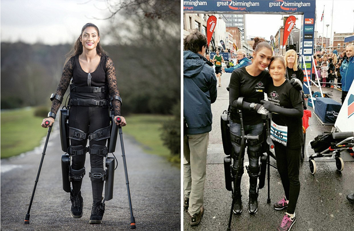 Nicki Donnelly на забеге в Бермингеме с дочерью.