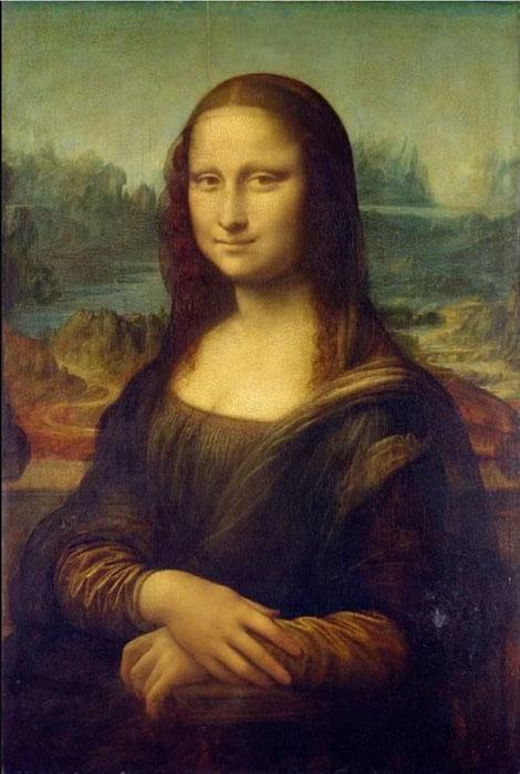 Мона Лиза в исполнении Леонардо Да Винчи.