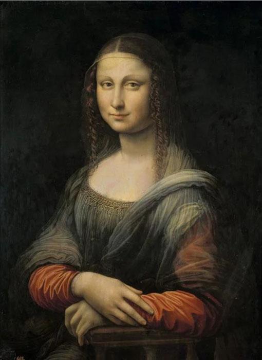 Мона Лиза в Прадо до реставрационных работ.