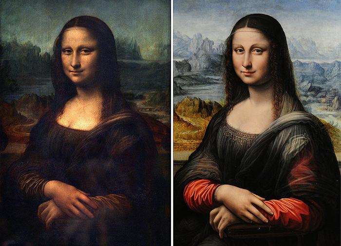Мона Лиза в Лувре и Мона Лиза в Прадо.