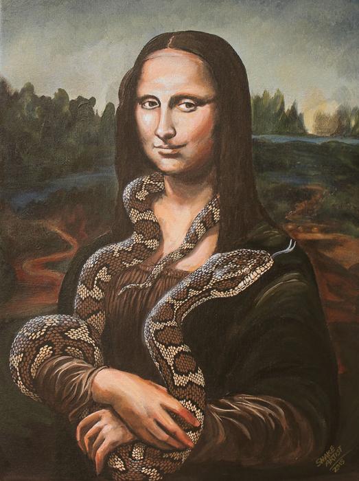 *Мона укротительница змей*  по мотивам картины Да Винчи.